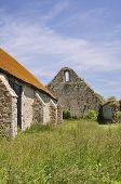 image of tithe  - St Leonards Grange medieval tithe barn New Forest - JPG
