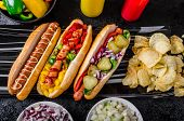 pic of wiener dog  - All beef dogs variantion of hot dogs onions beef garlic chips paprika chilli mustard ketchup - JPG