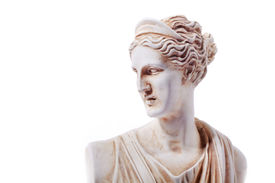 picture of artemis  - Artemis was the great Olympian goddess of hunting wilderness and wild animals - JPG