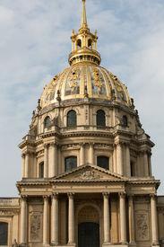 image of bonaparte  - View of Dome des Invalides burial site of Napoleon Bonaparte Paris France - JPG