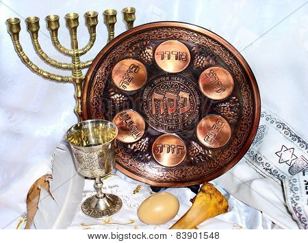 Seder Plate For Passover Celebrations