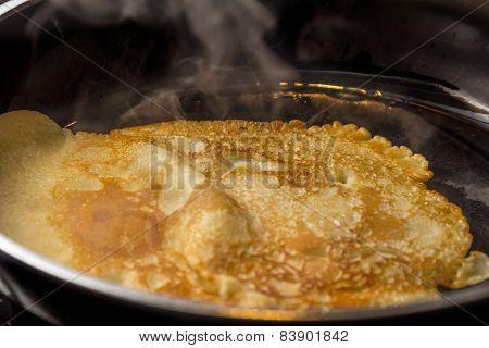 Crepe Baking In Pan