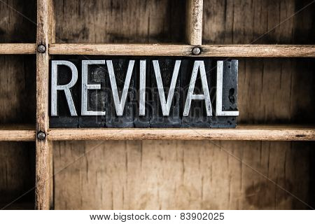 Revival Concept Metal Letterpress Word In Drawer