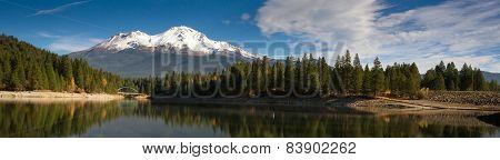 Mt Shasta Mountain Siskiyou Lake Bridge California Recreation Landscape