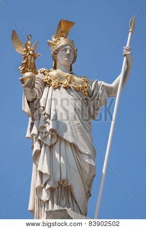 Pallas Athena In Front Of The Parliament In Vienna