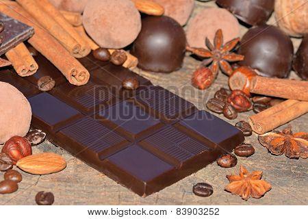 Dark Chocolate And Truffles