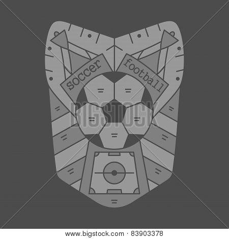 Football Emblem Monocrome