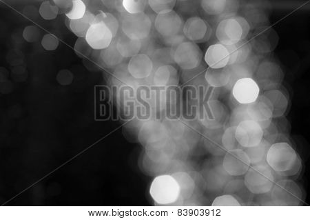 Abstract background of holiday lights.