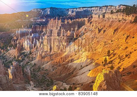 Bryce Canyon As Viewed From Sunrise Point At Bryce Canyon National Park,in  Utah, United States Of A
