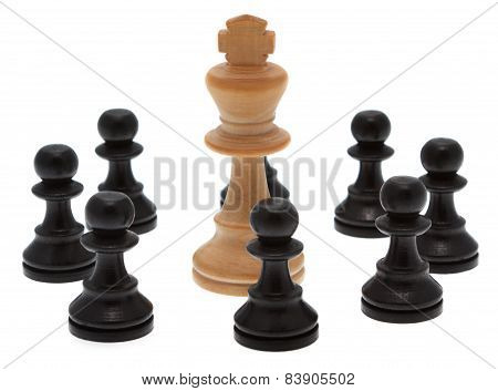King Is Encircled By Pawns