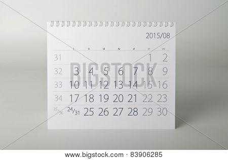 2015 Year Calendar. August