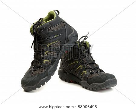 Pair Of High-tech Waterproof Winter Boots Trekking.