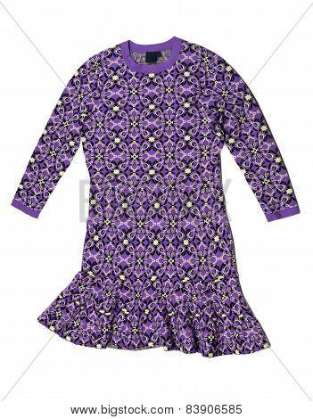 Purple Dress With A Pattern