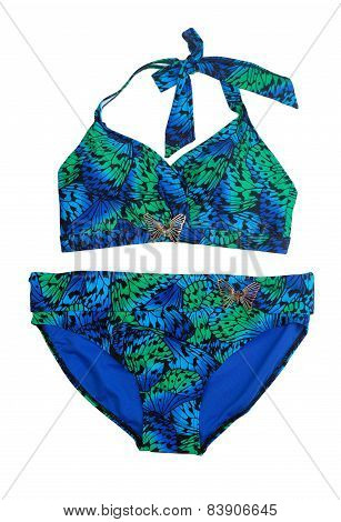 Female Swimsuit With An Exotic Pattern.