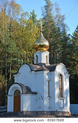 Small Church At The Forest At Summer Season