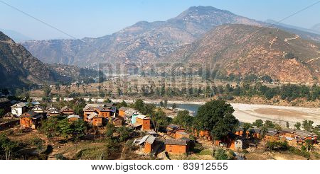 Beautiful Village In Nepal - Himalayan Foothils