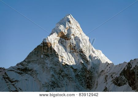 Top Of Evening Mount Ama Dablam