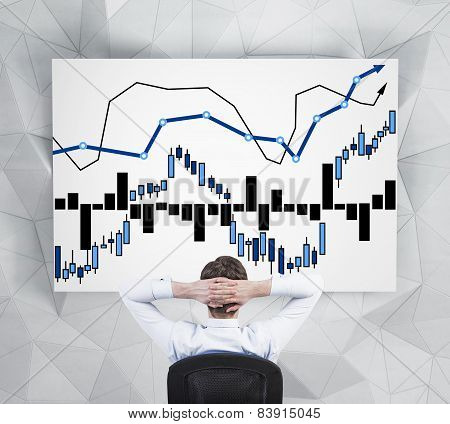 Businessman Looking At Stock