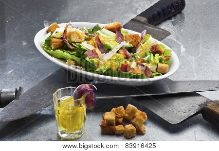 Classic Caesar Salad - Themed For Ides Of March (march 15 - Anniversary Of Deadly Stabbing Of Julius