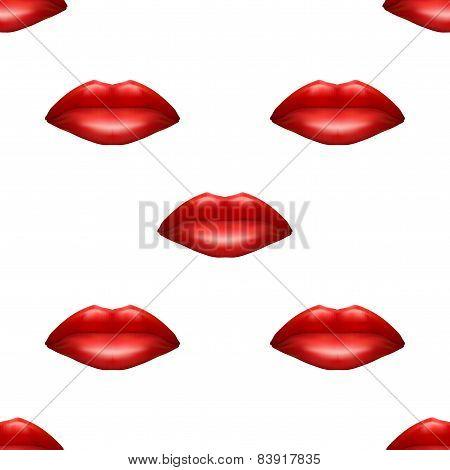 Universal red lips seamless patterns.