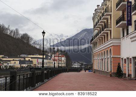 Rosa Valley in Alpine Ski Resort