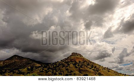 Mountains With Cloudy Skies