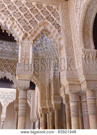 Intricately Carved Stone Columns