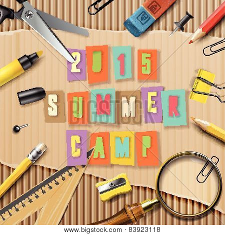 Summer Camp themed  poster