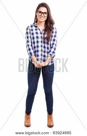 Beautiful Hipster Girl Smiling