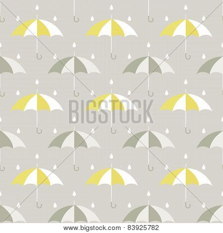 umbrellas and drops pattern