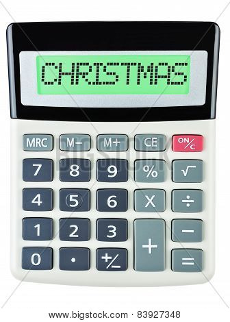 Calculator With Christmas