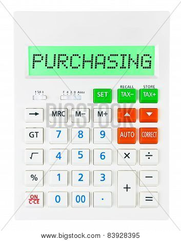 Calculator With Purchasing