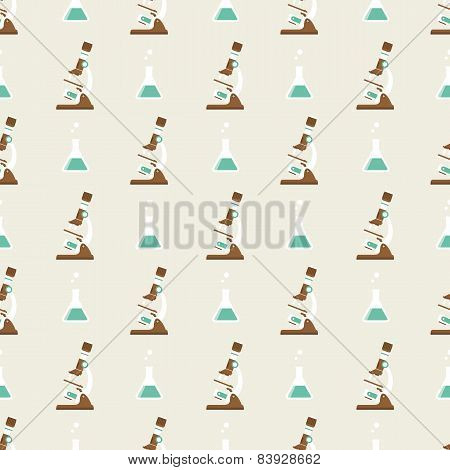 microscope and  flask png pattern