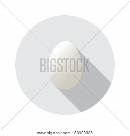 Realistic vector shape of egg. Easter egg shape and isolated on round background.Label design. Easte