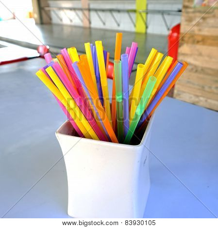 Multi-colored Straw