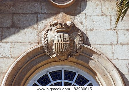 Coat of arms on Episcopal Palace, Almeria.