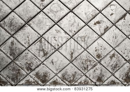Silver Painted Grunge Background