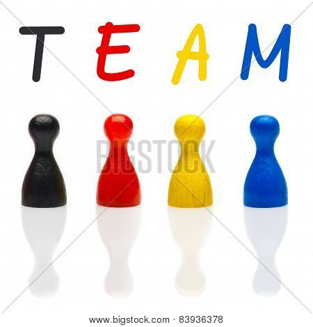 Concept Team, Teamwork, Organization Primary Color Black Leader