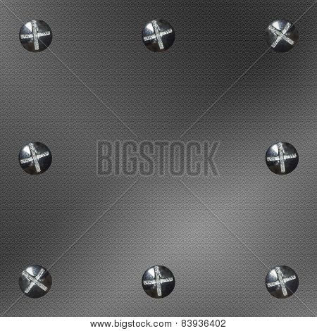 Background Metal Eight Bolts