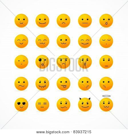 Vector smile icon set.