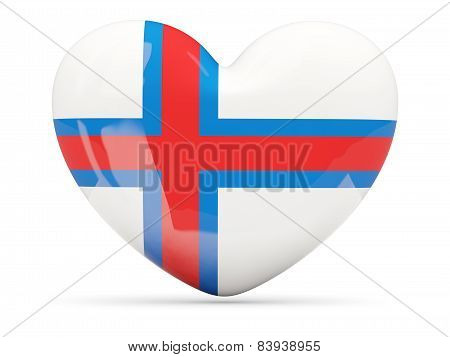 Heart Shaped Icon With Flag Of Faroe Islands
