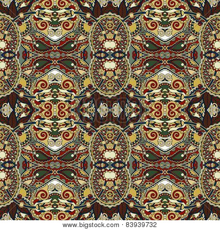 authentic seamless floral geometric pattern, ethnic ukrainian ba