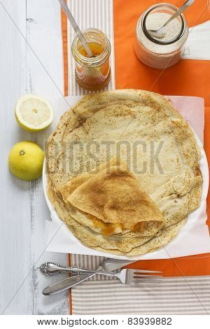 Crepes With Orange Marmalade