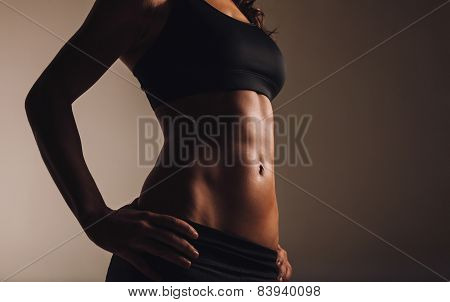 Muscular Torso Of Young Woman
