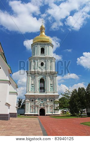 View On Bell Tower Of Saint Sophia Cathedral  In Kyiv, Ukraine