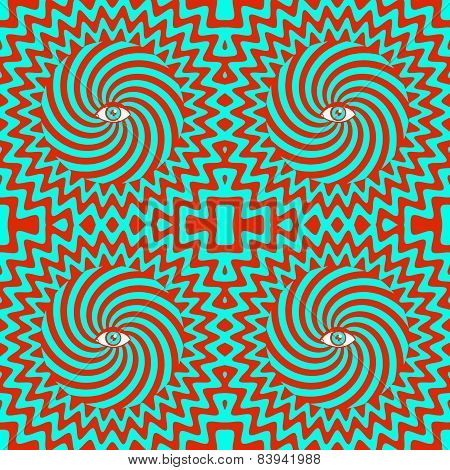 hypnotic retro seamless pattern