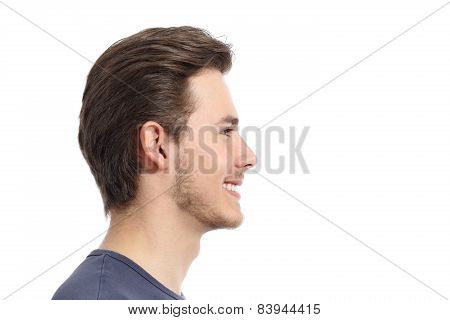Side View Of A Handsome Man Facial Portrait