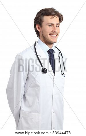Young Doctor Man Posing Happy