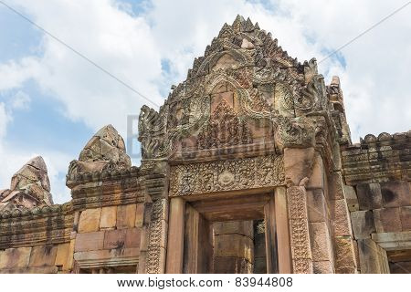 Prasat Hin Muang Tum In Phanom Rung Historical Park, Sand Stone Castle In Buriram, Thailand.