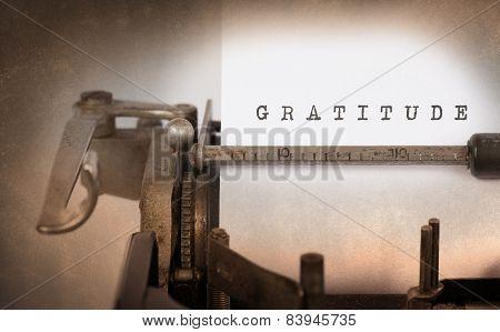 Vintage Typewriter, gratitude
